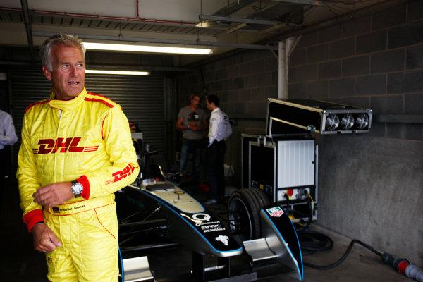 FIA Formula E Test Day, Donington Park, UK.  3rd - 4th July 2014.  Christian Danner. Photo: Zak Mauger/FIA Formula E ref: Digital Image _P7T1088