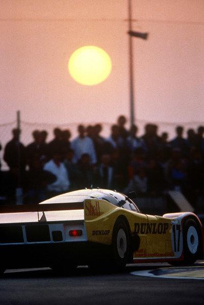Le Mans, France. 11th - 12th June 1988 Hans-Joachim Stuck/Klaus Ludwig/Derek Bell Porsche 962C, 2nd position, action. World Copyright: LAT Photographic ref: 88LM25