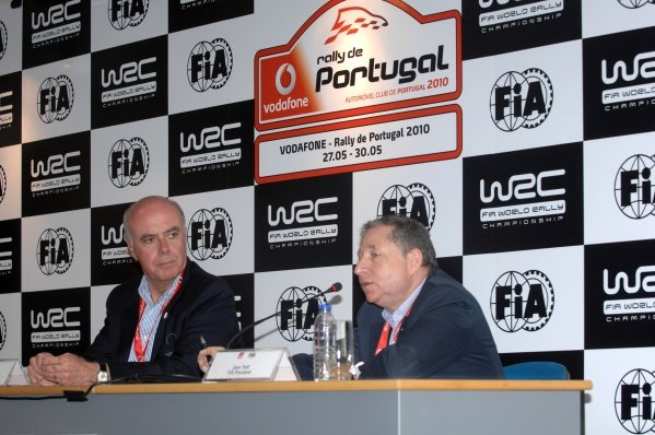 R-L: FIA President, Jean Todt (FRA) and President of ACP, Carlos Barbosa (POR).