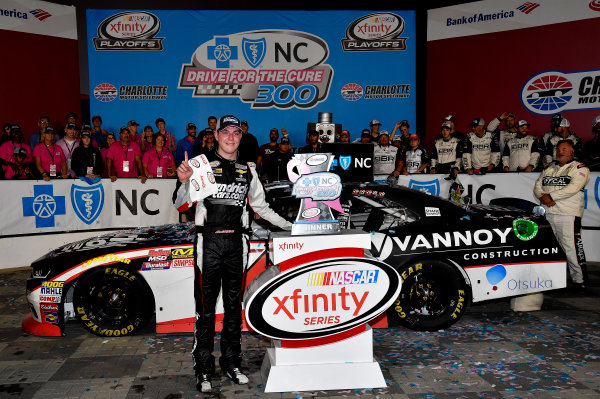 NASCAR XFINITY Series Drive for the Cure 300 Charlotte Motor Speedway, Concord, NC Sunday 8 October 2017 Alex Bowman, HendrickCars.com Chevrolet Camaro wins World Copyright: Rusty Jarrett LAT Images