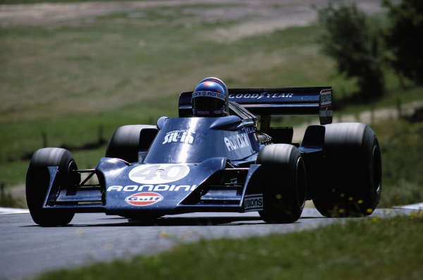 Alessandro Pesenti-Rossi, Tyrrell 007 Ford. The Italian attended four races under the entrant Scuderia Gulf Rondini.