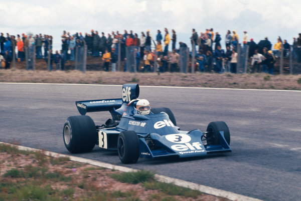 1974 Swedish Grand Prix  Anderstorp, Sweden. 7-9 June 1974.  Jody Scheckter, Tyrrell 007 Ford, 1st position.  Ref: 74SWE11. World Copyright: LAT Photographic