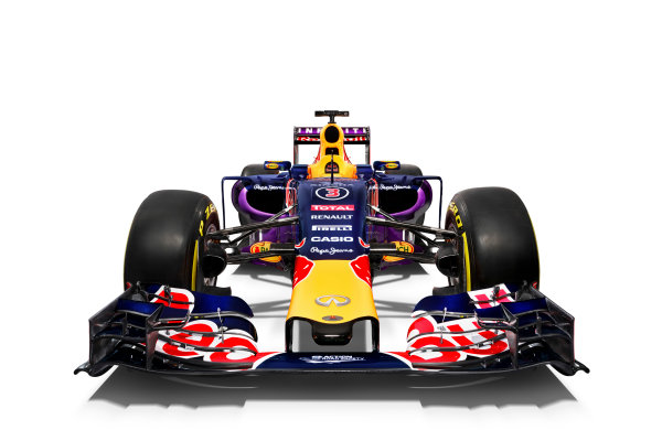 Infiniti Red Bull Racing RB11 Studio Images. Milton Keynes, UK. Sunday 1 March 2015. The Red Bull Racing RB11. Photo: Red Bull Racing (Copyright Free FOR EDITORIAL USE ONLY) ref: Digital Image RB11_LIVERY_01