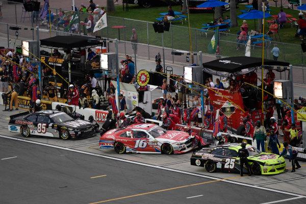 30 June-1 July, 2016, Daytona Beach, Florida USA Scott Lagasse Jr, Ryan Reed, and Bobby Gerhart make pit stops ?2016, Logan Whitton/LAT Photo USA