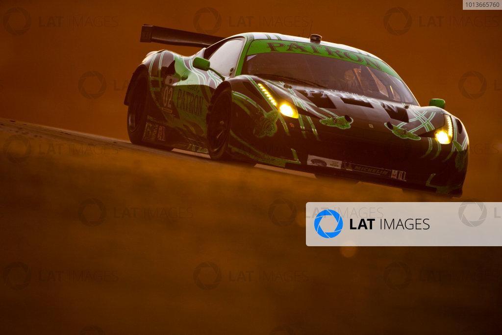 American Le Mans Series. Laguna Seca, Monterey, California. 15th - 17th September 2011. Ed Brown / Guy Cosmo, Extreme Speed Motorsports, Ferrari 458 Italia.  Action. Photo: Drew Gibson/LAT Photographic. ref: Digital Image _Y2Z7096