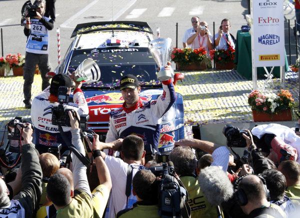 Round 11Rally de France 30/9-3/10Sebastien Loeb, Daniel Elena, Citroen WRC, Podium.Worldwide Copyright: McKlein/LAT