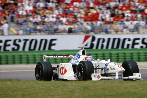 Hockenheim, Germany. 31st July - 2nd August 1998.Rubens Barrichello (Stewart SF2-Ford), retired, action. World Copyright: LAT Photographic.Ref:  Colour Transparency.