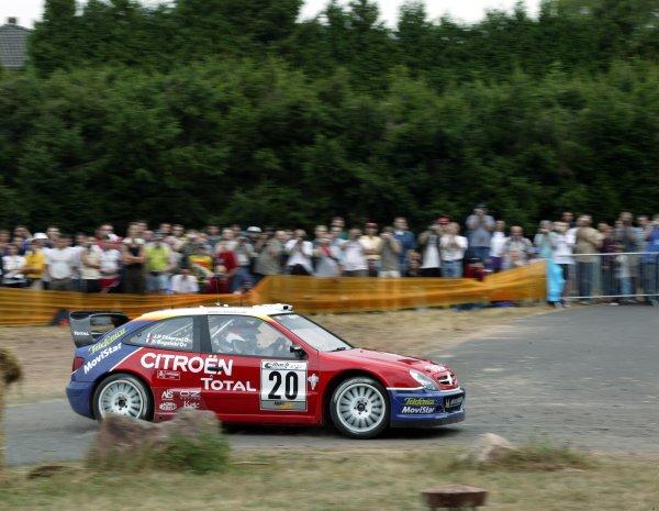 2003 FIA World Rally Champs. Round eight, Deutschland Rally24th-27th July 2003.Philippe Bugalski, Citroen, action. World Copyright: McKlein/LAT