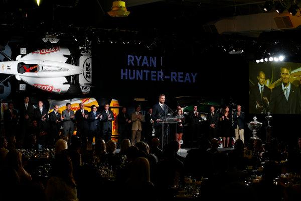 6 December, 2012, Indianapolis, Indiana, USA Champion Ryan Hunter-Reay.(c) 2012, Michael L. Levitt LAT Photo USA