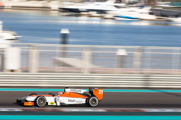 2014 GP2 Series Test 1  Yas Marina Circuit, Abu Dhabi, UAE.  Wednesday 12 March 2014. Jon Lancaster (GBR) MP Motorsport   Photo: Malcolm Griffiths/GP2 Series Media Service ref: Digital Image F80P5123