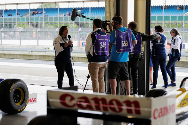 Williams 40 Event Silverstone, Northants, UK Friday 2 June 2017. Claire Williams talks to the media. World Copyright: Zak Mauger/LAT Images ref: Digital Image _54I2001