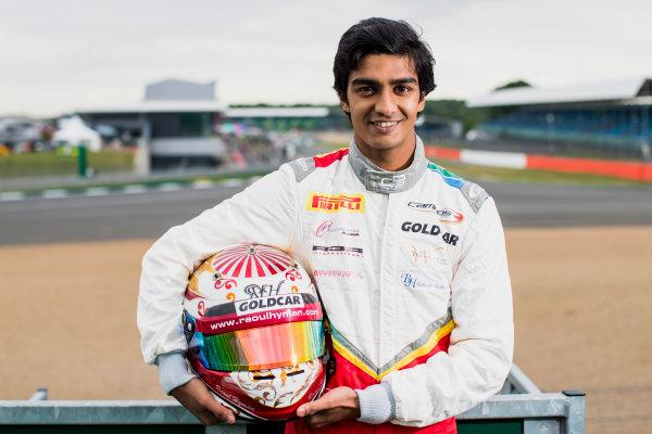 2017 GP3 Series Round 3.  Silverstone, Northamptonshire, UK. Thursday 13 July 2017. Raoul Hyman (RSA, Campos Racing).  Photo: Zak Mauger/GP3 Series Media Service. ref: Digital Image _54I2888