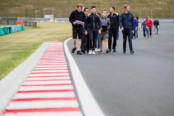 2017 GP3 Series Round 4.  Hungaroring, Budapest, Hungary. Thursday 27 July 2017. Matthieu Vaxiviere (FRA, DAMS), Bruno Baptista (BRA, DAMS).  Photo: Zak Mauger/GP3 Series Media Service. ref: Digital Image _54I0036