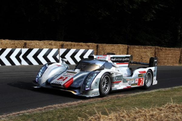 Goodwood Estate, Chichester England 11th - 14th July 2013. Allan McNish's Le Mans winning Audi R18. World Copyright: Jeff Bloxham/LAT Photographic ref: Digital Image DSC_6377