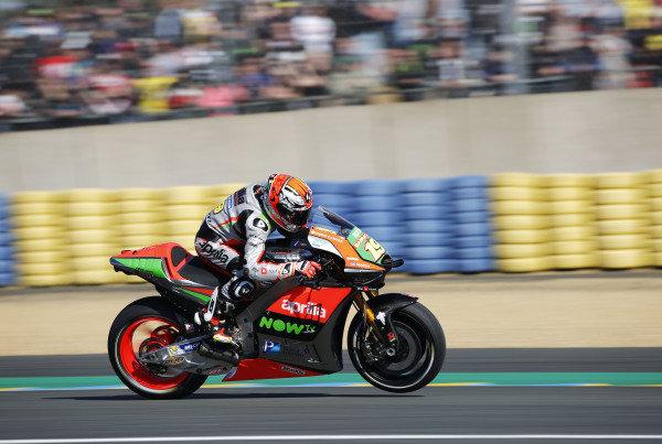 2016 MotoGP Championship.  French Grand Prix.  Le Mans, France. 6th - 8th May 2016.  Alvaro Bautista, Aprilia.  Ref: _W5_2455a. World copyright: Kevin Wood/LAT Photographic