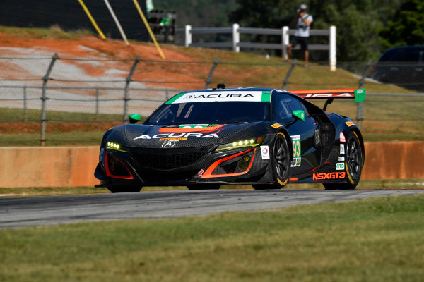 IMSA WeatherTech SportsCar Championship Motul Petit Le Mans Road Atlanta, Braselton GA Thursday 5 October 2017 93, Acura, Acura NSX, GTD, Andy Lally, Katherine Legge, Mark Wilkins World Copyright: Richard Dole LAT Images ref: Digital Image RDPLM032