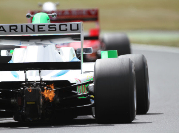 Brands Hatch, UK. 17-18th July 2010.  Mihai Marinescu. Action. Exhaust flame.  World Copyright: Kevin Wood/LAT  Photographic Ref: Digital Image IMG_5333a