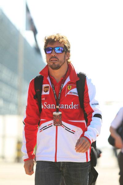 Korea International Circuit, Yeongam-Gun, South Korea. Saturday 5th October 2013. Fernando Alonso, Ferrari. World Copyright: Charles Coates/LAT Photographic. ref: Digital Image _X5J9438
