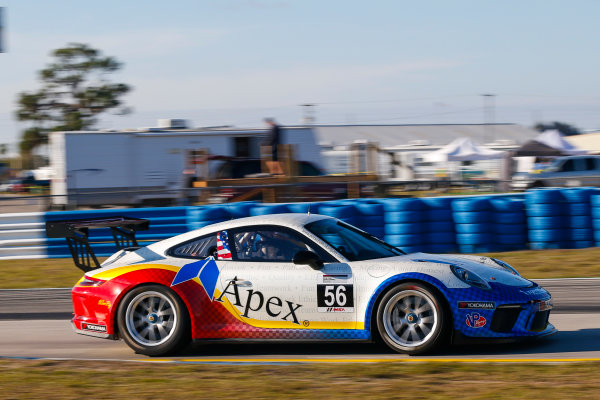 2017 Porsche GT3 Cup USA Sebring International Raceway, Sebring, FL USA Wednesday 15 March 2017 56, David Baker, GT3P, USA, M, 2017 Porsche 991 World Copyright: Jake Galstad/LAT Images ref: Digital Image lat-galstad-SIR-0317-14867