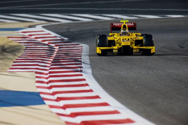 2017 FIA Formula 2 Round 1. Bahrain International Circuit, Sakhir, Bahrain.  Friday 14 April 2017. Sean Gelael (INA, Pertamina Arden)  Photo: Zak Mauger/FIA Formula 2. ref: Digital Image _56I0082