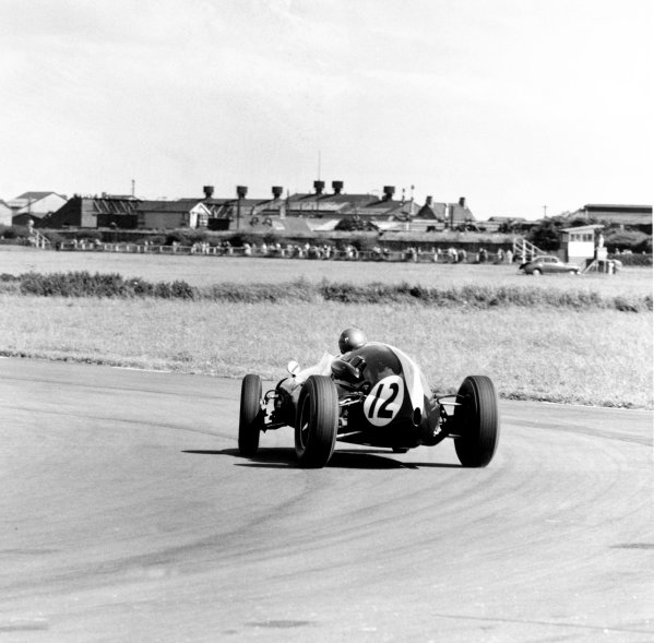 1959 British Grand Prix.Aintree, Great Britain. 18 July 1959.Jack Brabham (Cooper T51-Climax), 1st position. Ref-4533.World Copyright - LAT Photographic