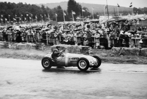 1952 Belgian Grand Prix.Spa-Francorchamps, Belgium. 22 June 1952.Tony Gaze (HWM-Alta). Ref-52/24 #21A.World Copyright - LAT Photographic