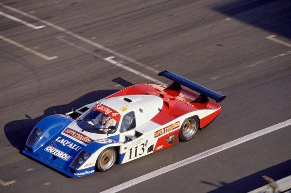 1989 Le Mans 24 HoursLe Mans, France. 10th - 11th June.Jean-Claude Andruet/Philippe Farjon/Shenji Kasuya (Cougar C20-Porsche), 14th position.World Copyright: Murenbeeld/LAT Photographicref: 35mm Transparency Image