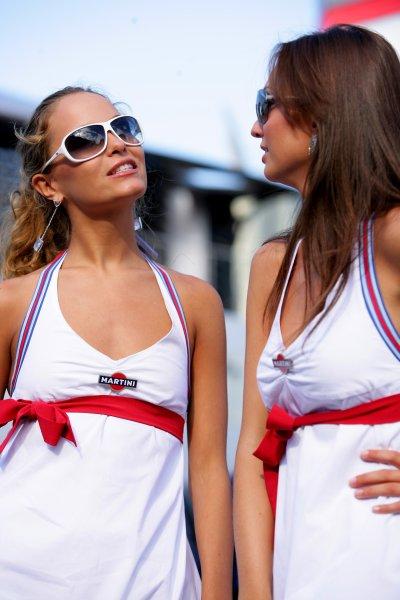 2007 Italian Grand Prix - ThursdayAutodromo di Monza, Monza, Italy.6th September 2007.Martini girls on show in the paddock. Glamour. Atmosphere.World Copyright: Lorenzo Bellanca/LAT Photographicref: Digital Image ZD2J5701