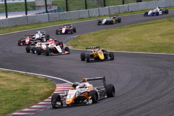 2017 Japanese Formula 3 Championship. Suzuka, Japan. 24th - 25th June 2017. Rd 10 & 11. Rd11 Start of the race, action World Copyright: Masahide Kamio / LAT Images. Ref: 2017JF3_Rd11_01