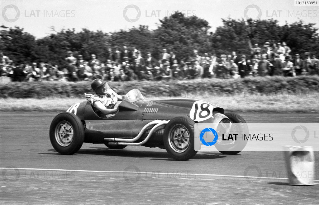 1953 British Grand PrixSilverstone, England. 18th July 1953Jimmy Stewart (Cooper T20 Bristol). Retired, accident.World Copyright: LAT Photographicref: J86/53/77_4A-5