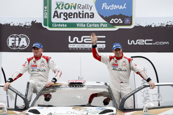 2014 World Rally Championship Rally Argentina 8th - 11th May 2014 Kris Meeke, Paul Nagle, Citroen, podium Worldwide Copyright: McKlein/LAT