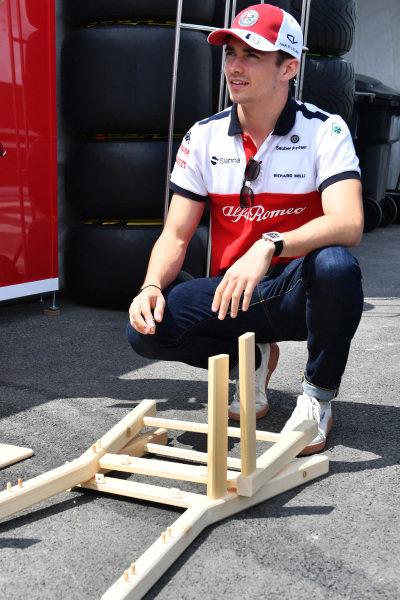 Charles Leclerc (MON) Alfa Romeo Sauber F1 Team with Sky TV