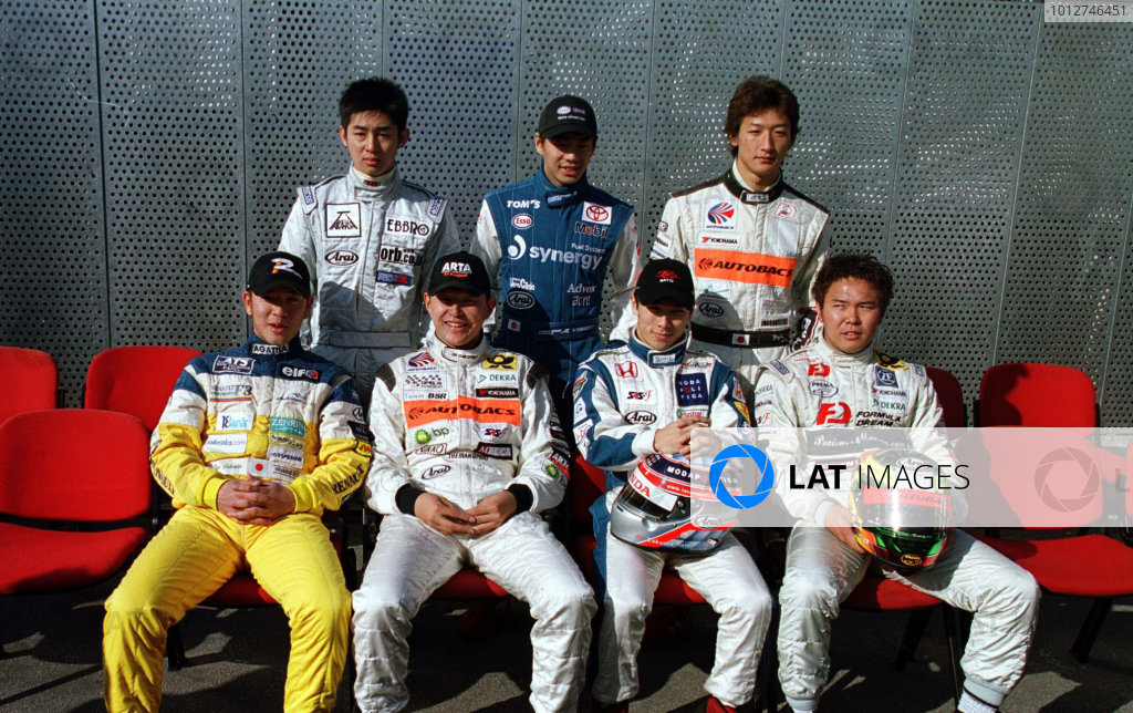 2001 Macau Grand Prix.The Japanese entrants for this years raceCircuit de Guia, Macau.16th November 2001.World Copyright: Spinney/LAT Photographic.Ref.:8 5mb Digital Image.