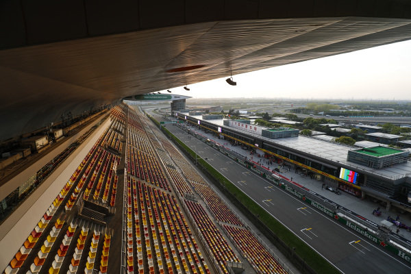 Grandstand atmosphere at the Shanghai International Circuit