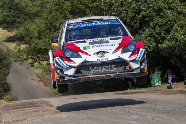 Jari-Matti Latvala on the famous 'Gina' jump on Rallye Deutschland's Panzerplatte military stages