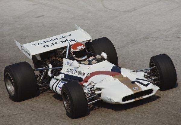 Helmut Marko, BRM P153, during practice.