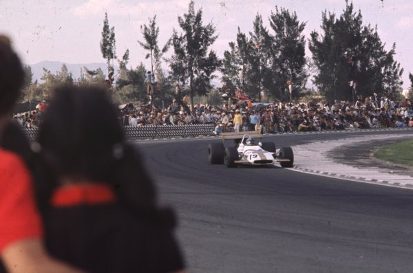 1970 Mexican Grand Prix.Mexico City, Mexico.23-25 October 1970.Pedro Rodriguez (BRM P153) 6th position.Ref-70 MEX 29.World Copyright - LAT Photographic