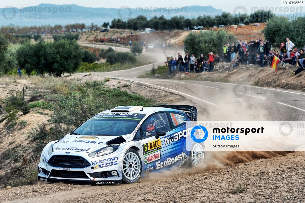 Ott Tanak (EST) / Raigo Molder (EST) Ford Fiesta RS WRC at FIA World Rally Championship, Rd12, RAAC Rally de Espana, Day Three, Costa Daurada, Catalunya, Spain, 25 October 2015.