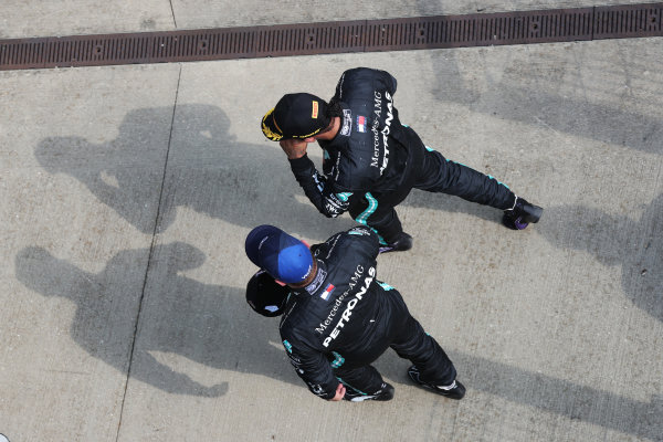 Valtteri Bottas, Mercedes-AMG Petronas F1, 3rd position, and Lewis Hamilton, Mercedes-AMG Petronas F1, 2nd position