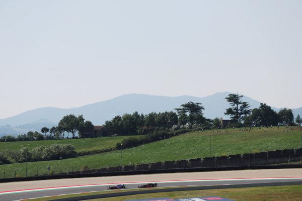 Lance Stroll, Racing Point RP20, leads Charles Leclerc, Ferrari SF1000