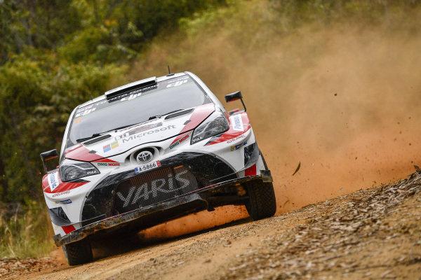 Esapekka Lappi (FIN) / Janne Ferm (FIN), Toyota Gazoo Racing WRT Toyota Yaris WRC at World Rally Championship, Rd13, Rally Australia, Day One, Coffs Harbour, New South Wales, Australia, 17 November 2017.