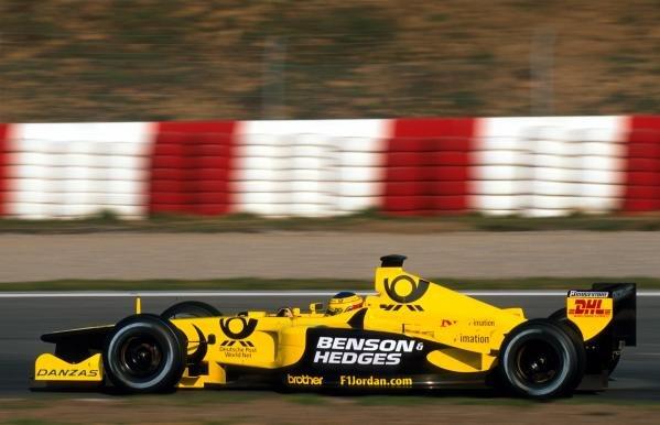 Marcel Lasee (GER) made his debut Formula One test with the Jordan team in last yearÕs Jordan EJ11.Formula One Testing, Barcelona, Spain, 27-31 January 2002.