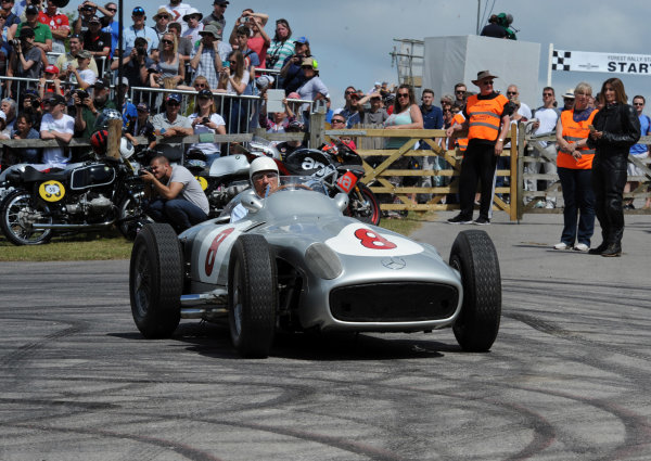 2015 Goodwood Festival of Speed 25th - 28th June 2015 Sir Stirling Moss, Mercedes-Benz W196. World Copyright : Jeff Bloxham/LAT Photographic Ref : Digital Image