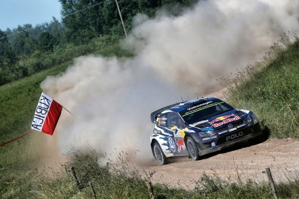 Andreas Mikkelsen (NOR) / Ola Floene (NOR) Volkswagen Polo R WRC at FIA World Rally Championship, Rd7, Lotos 71st Rally Poland, Day One, Mikolajki, Poland, Friday 3 July 2015.