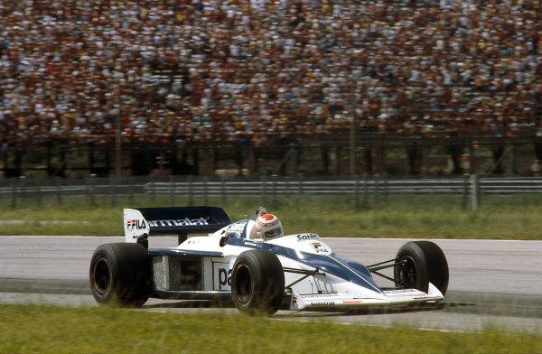 Rio de Janeiro, Brazil.11-13 March 1983.Nelson Piquet (Brabham BT52 BMW) 1st position.Ref-83 BRA 01.World Copyright - LAT Photographic