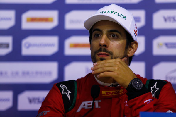 FIA Formula E Championship 2015/16. Beijing ePrix, Beijing, China. Lucas Di Grassi (BRA), ABT Audi Sport FE01  Press Conference Beijing, China, Asia. Saturday 24 October 2015 Photo: Sam Bloxham / LAT / FE ref: Digital Image _SBL7951