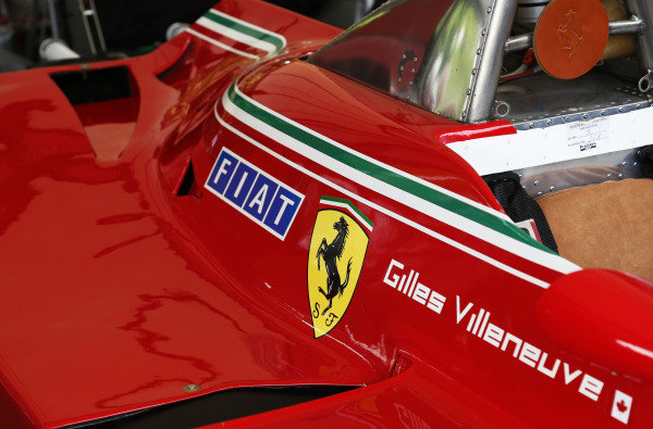 2015 Goodwood Festival of Speed.  Goodwood Estate, West Sussex, England. 25th - 28th June 2015.  Detail of Gilles Villeneuve's Ferrari 312T5.  Ref: KW5_3496a. World copyright: Kevin Wood/LAT Photographic
