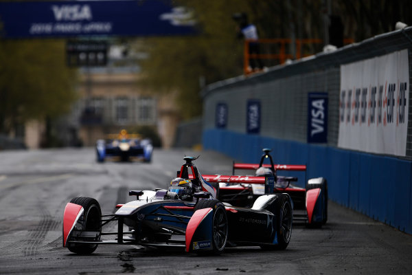 2015/2016 FIA Formula E Championship. Paris ePrix, Paris, France. Saturday 23 April 2016. Jean-Eric Vergne (FRA), DS Virgin Racing DSV-01. Photo: Glenn Dunbar/LAT/Formula E ref: Digital Image _W2Q2153