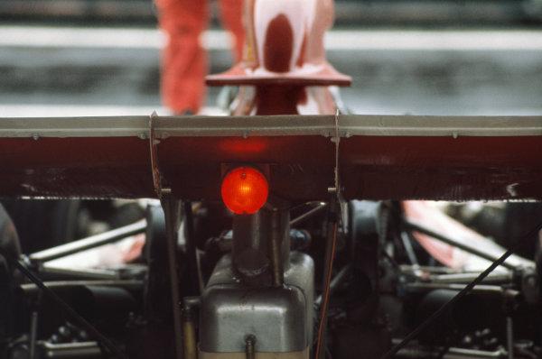 1973 Dutch Grand Prix.  Zandvoort, Netherlands. 27-29th July 1973.  Red light on back of BRM rear wing.  Ref: 73HOL19. World Copyright: LAT Photographic