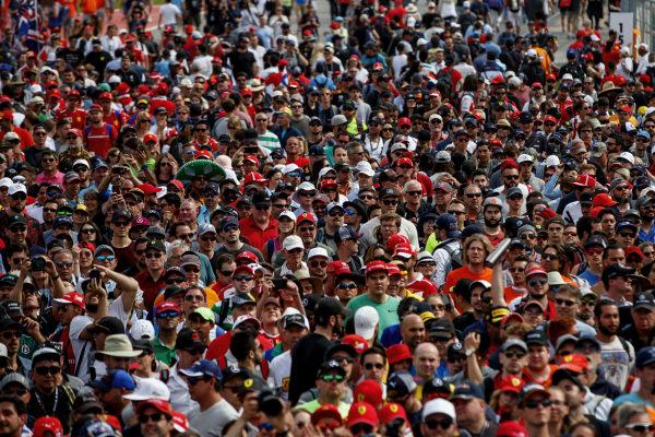 A huge crowd of fans.